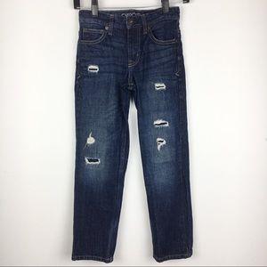 Boys Cherokee Distressed Straight Leg Jeans 8